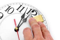 Concepto de control de tiempo Imagen de archivo libre de regalías