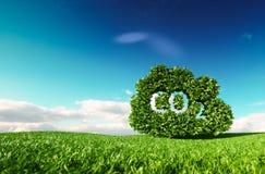 Concepto de control de emisiones del dióxido de carbono representación 3d del cl del CO2 stock de ilustración
