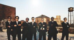 Concepto de Corporate Collaboration Teamwork del hombre de negocios Foto de archivo libre de regalías