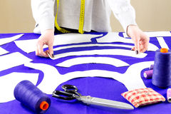 Concepto de costura modista Fotografía de archivo libre de regalías