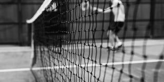 Concepto de Court Fit Game del atleta del ejercicio practicante del tenis Fotos de archivo
