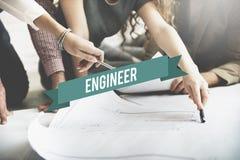 Concepto de Creative Occupation Expertise del arquitecto del ingeniero Fotografía de archivo