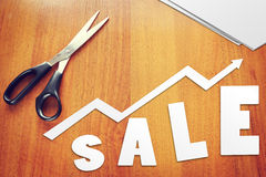 Concepto de crecimiento de las ventas Imagenes de archivo