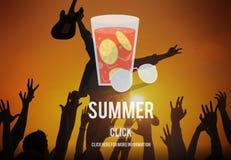Concepto de cristal del gráfico de la bebida de la limonada del verano Foto de archivo