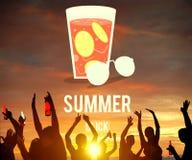Concepto de cristal del gráfico de la bebida de la limonada del verano Foto de archivo libre de regalías