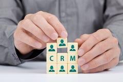 Concepto de CRM Foto de archivo libre de regalías
