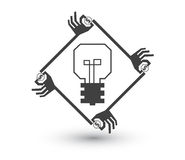 Concepto de Crowdfunding stock de ilustración