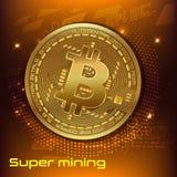 Concepto de Cryptocurrency bandera de la publicidad de la plantilla stock de ilustración