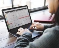 Concepto de Date Events Schedule del organizador del planificador fotografía de archivo libre de regalías
