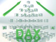 Concepto de Dax Rising 3D Imágenes de archivo libres de regalías