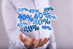 Concepto de descuento del 40% Foto de archivo libre de regalías