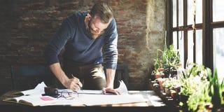 Concepto de Design Working Planning del ingeniero del arquitecto imagenes de archivo