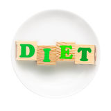Concepto de dieta Fotografía de archivo libre de regalías