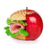 Concepto de dieta, opciones sanas de la consumición Foto de archivo libre de regalías
