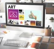 Concepto de Digitaces de la innovación del monitor de computadora Fotografía de archivo