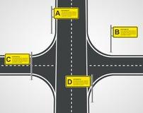 Concepto de diseño abstracto de Infographic del negocio del camino y de la calle Foto de archivo