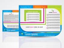 Concepto de diseño abstracto del folleto Imagenes de archivo