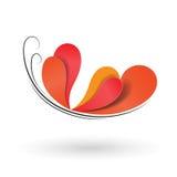 Concepto de diseño aislado vector de la mariposa Imagen de archivo libre de regalías