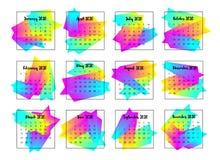 Concepto de diseño de 2020 calendarios A?o 2020 ilustración del vector