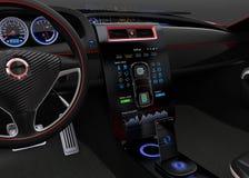 Concepto de diseño de interfaz de las multimedias del coche eléctrico libre illustration