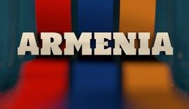 Concepto de diseño de la bandera de Armenia Foto de archivo