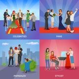 Concepto de diseño de la celebridad 2x2 ilustración del vector