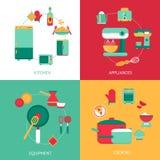 Concepto de diseño de la cocina stock de ilustración