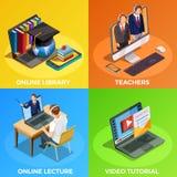 Concepto de diseño de la educación a distancia Imagenes de archivo