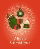 Concepto de diseño de la Feliz Navidad Fotografía de archivo