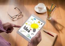 Concepto de diseño de la idea de las ideas Foto de archivo
