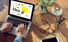 Concepto de diseño de la idea de las ideas Imágenes de archivo libres de regalías