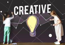 Concepto de diseño de la inspiración de Vision del progreso de las ideas fotografía de archivo libre de regalías