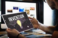 Concepto de diseño de la inspiración de Vision del progreso de las ideas fotografía de archivo