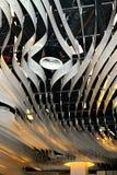 concepto de diseño de la luz del arte moderno en el aeropuerto de Schiphol en Holanda Imagen de archivo