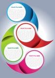 Concepto de diseño de la paginación del folleto del vector Foto de archivo