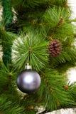 Concepto de diseño de la postal de las decoraciones del árbol de navidad Fotos de archivo