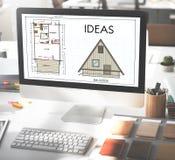 Concepto de diseño de Vision de las táctica de la estrategia de la oferta de las ideas Imagenes de archivo