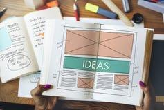 Concepto de diseño de Vision de las táctica de la estrategia de la oferta de las ideas Fotos de archivo