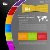 Concepto de diseño de Web Foto de archivo libre de regalías