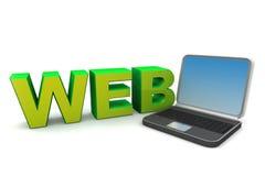 Concepto de diseño de Web Foto de archivo