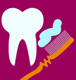 Concepto de diseño del cuidado dental Imagen de archivo libre de regalías