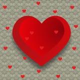Concepto de diseño del día de tarjeta del día de San Valentín stock de ilustración