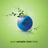 Concepto de diseño del globo de la tierra de Eco Imagen de archivo