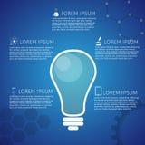 Concepto de diseño del icono de la bombilla Imagenes de archivo