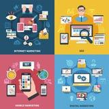 Concepto de diseño del márketing de Internet ilustración del vector