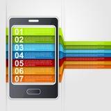 Concepto de diseño del smartphone de Infographic Imagen de archivo libre de regalías