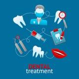 Concepto de diseño dental Imagen de archivo