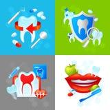 Concepto de diseño dental Imágenes de archivo libres de regalías