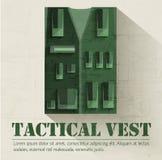 Concepto de diseño determinado militar plano del equipo del soldado Fotografía de archivo libre de regalías