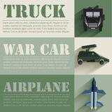 Concepto de diseño determinado militar plano del equipo del soldado Fotografía de archivo
